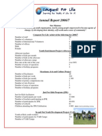 Conquest for Life Annual Report 2006 - 2007