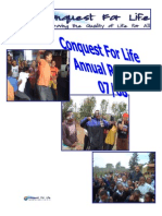Conquest for Life Annual Report 2007 - 8