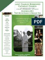 November 6, 2011 Bulletin