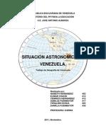 Situacion Astronomic A de La Republica Bolivar Ian A de Venezuela