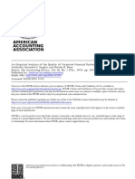 An Empirical Analysis of the Quality of Corporate Financial Disclosure
