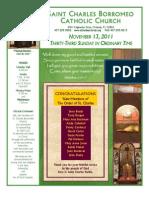November 13, 2011 Bulletin