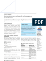 Pneumonia- Update on Diagnosis and Management