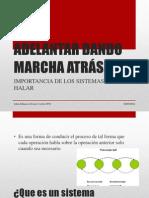 ADELANTAR DANDO MARCHA ATRÁS