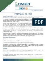 Finanzas al Día 28.11.11