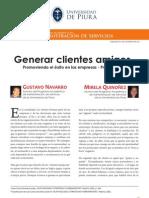 20111121 - Generar clientes amigos - Gustavo Navarro y Mirela Quiñonez