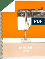 manual da Singer 270 Bobina Mágica