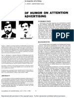 The Effects of Humor on Attention in Magazine Advertising