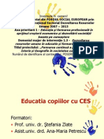 Educatia Copiilor Cu Ces Curs