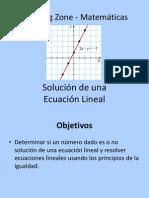 Solución de una Ecuación Lineal