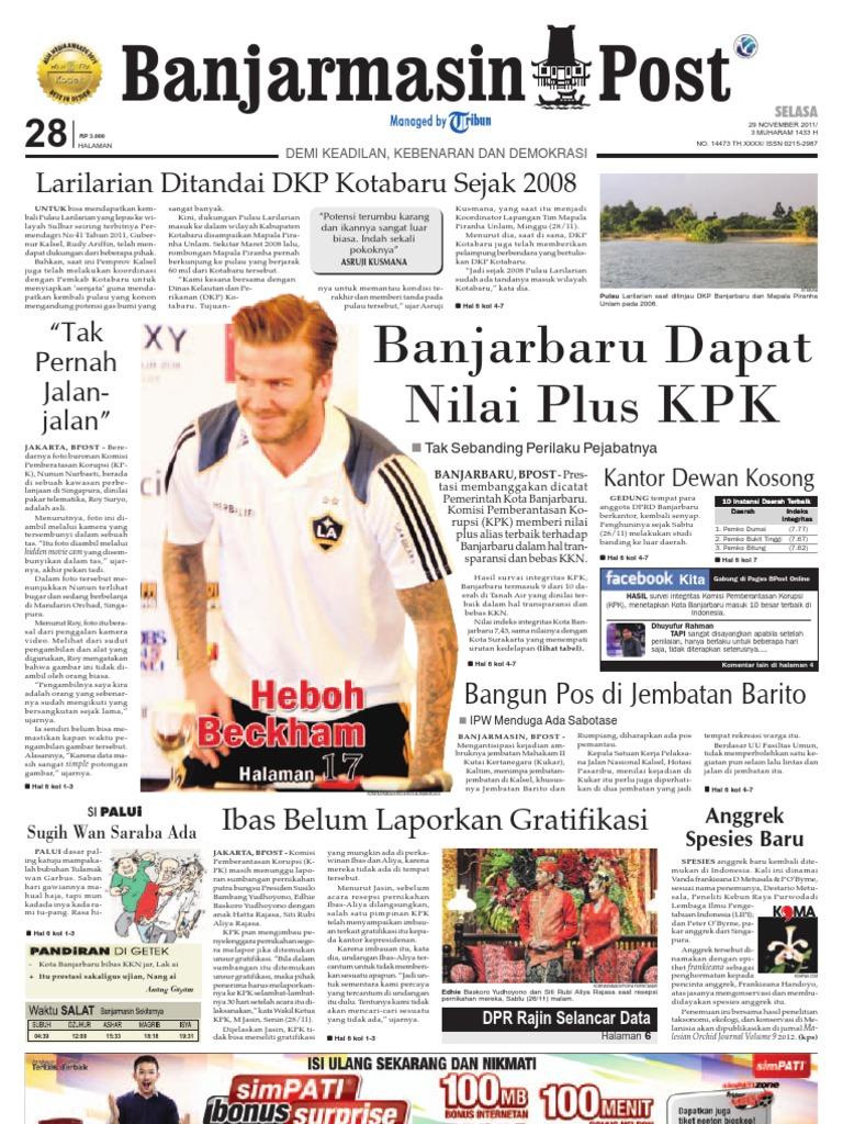 Banjarmasin Post edisi cetak 29 November 2011 d751ec4eae