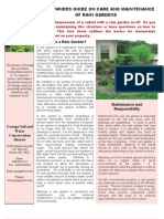 Ohio; Homeowners Guide on Care and Maintenance of Rain Gardens - Geauga SWCD