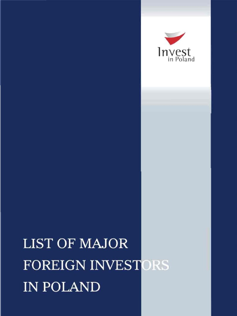 List Of Major Foreign Investors In Poland 2009 Comments