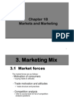 Chapt 1B - Markets and Mktg
