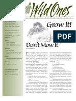 Wisconsin; Grow It! Don't Mow It - Wild Ones