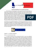 Constitution de la Ve république, cours-univ