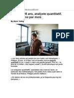 Analiste Quantitatif Banques Lyon
