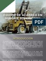 Equipo de Acarreo en Mineria Superficial