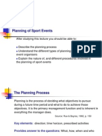 Planning of Sport Events 1