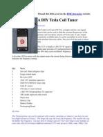 Tesla Coil Tuner