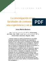 La investigación en las facultades de comunicación