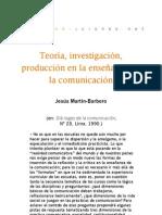 Teoría, investigación, producción en la enseñanza de la comunicación