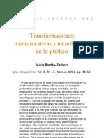 Transformaciones tecnológicas y comunicativas de lo público
