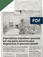 Nueva anestesia para niños en diagnosis del glaucoma