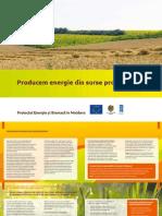 """Broșura de prezentare a proiectului Energie și Biomasă """"Producem energie din surse proprii"""""""