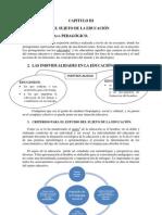 EL SUJETO DE LA EDUCACIÓN CAP. III