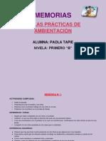 PRACTICAS DE AMBIENTACION..