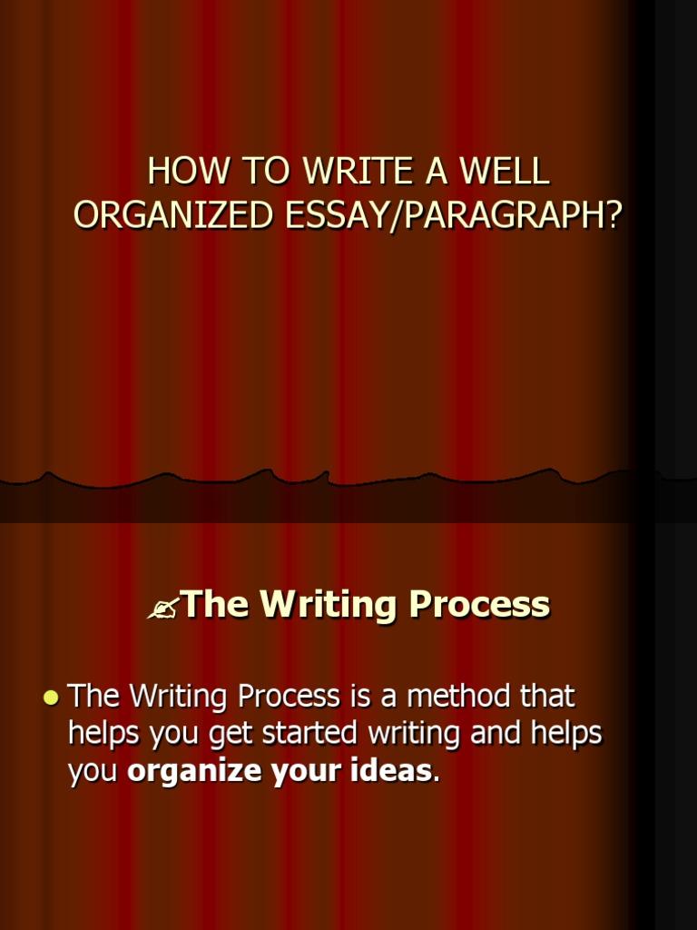 Organize Your Ideas Writing