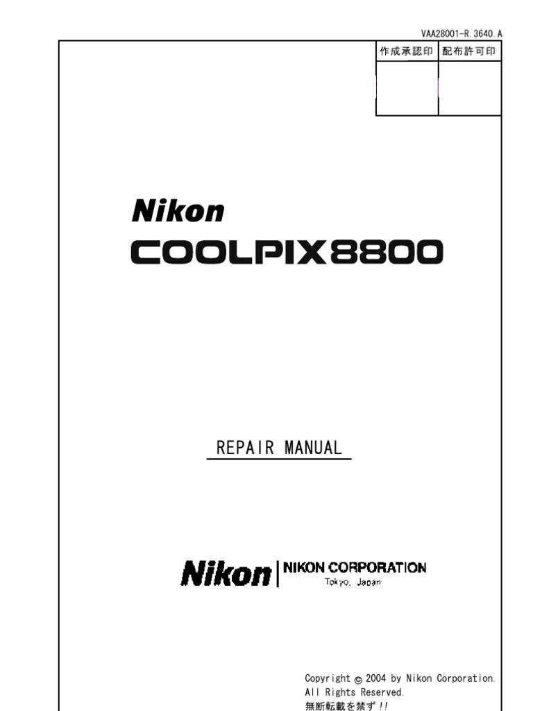 Nikon Coolpix 8800 Repair Manual [ET]