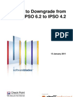 How to Downgrade From IPSO6.2 to IPSO4.2