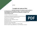 Camu camu de la región de Loreto en Perú - consideraciones específicas referentes a la situación social, ecológica y de infraestructura en el distrito de Tigre