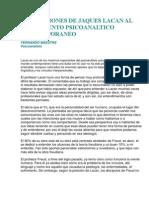 Aportaciones de Jaques Lacan Al to Psicoanaltico Contemporaneo