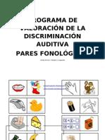 Discriminación aditiva - Pares fonológicos