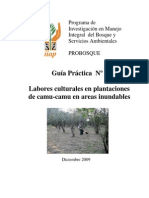 Guía práctica N° 3 - Labores culturales en plantaciones de camu camu en áreas inundables