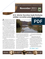 Kentucky Department Fish Wildlife November 2011 Newsletter