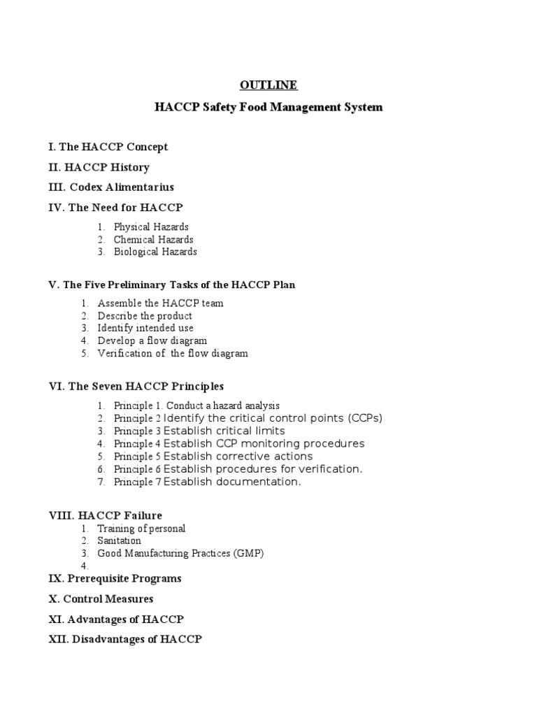 Haccp Concept Hazard Analysis And Critical Control Points