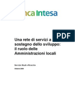 Rapporto BIIS - Una Rete Di Servizi a Sostegno Dello Sviluppo