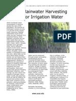 Alabama; Rainwater Harvesting for Irrigation Water - Alabama A&M University