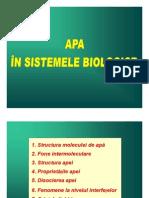 Apa in Sistemele Biologice