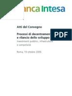 Banca Intesa 2005 - Atti Del Convegno