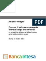 Banca Intesa 2004 - Atti Del Convegno
