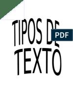 Antologia de Tipo de Texto