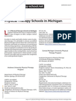 Physical Therapy Schools in Michigan