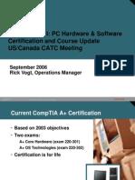 Rick ITE1 Cert Course Update