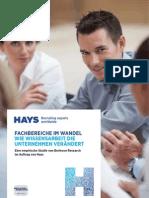 Hays Studie Fachbereiche Im Wandel Wissensarbeit