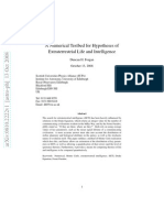 A Numerical Testbed for Hypotheses of Extraterrestrial Life and Intelligence